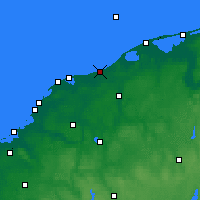 Nearby Forecast Locations - Ustka - Mapa