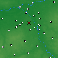 Nearby Forecast Locations - Varšava - Mapa