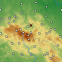 Nearby Forecast Locations - Jelenia Góra - Mapa