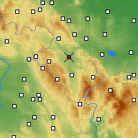 Nearby Forecast Locations - Kladsko - Mapa