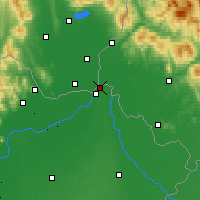 Nearby Forecast Locations - Záhony - Mapa