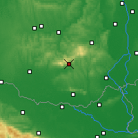 Nearby Forecast Locations - Pécs - Mapa