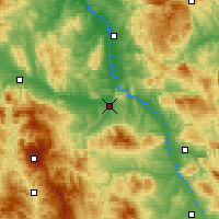 Nearby Forecast Locations - Kruševac - Mapa