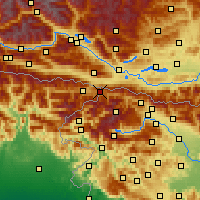 Nearby Forecast Locations - Občina Kranjska Gora - Mapa