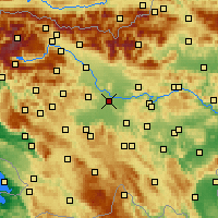 Nearby Forecast Locations - Lublaň - Mapa