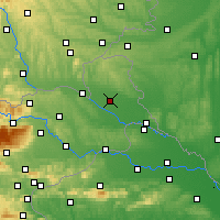 Nearby Forecast Locations - Murska Sobota - Mapa