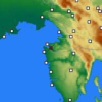 Nearby Forecast Locations - Portorož - Mapa