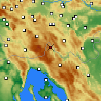 Nearby Forecast Locations - Čabar - Mapa