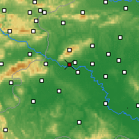 Nearby Forecast Locations - Zagreb Gric - Mapa