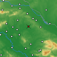 Nearby Forecast Locations - Bjelovar - Mapa