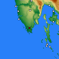 Nearby Forecast Locations - Pula - Mapa
