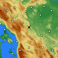 Nearby Forecast Locations - Ogulin - Mapa