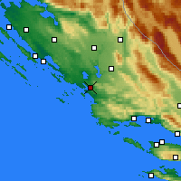 Nearby Forecast Locations - Šibenik - Mapa