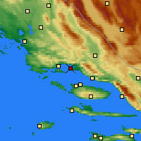 Nearby Forecast Locations - Split - Mapa