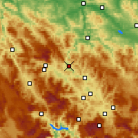 Nearby Forecast Locations - Zenica - Mapa