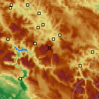 Nearby Forecast Locations - Bjelašnica - Mapa
