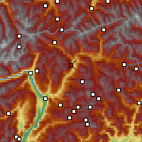 Nearby Forecast Locations - Brixen - Mapa