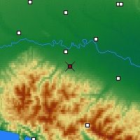 Nearby Forecast Locations - Piacenza - Mapa