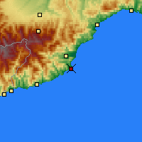 Nearby Forecast Locations - Alassio - Mapa