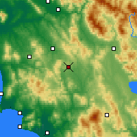 Nearby Forecast Locations - Siena - Mapa