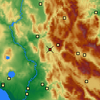 Nearby Forecast Locations - Rieti - Mapa