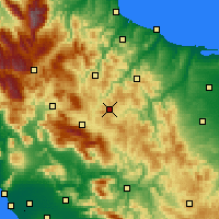 Nearby Forecast Locations - Campobasso - Mapa