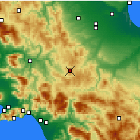 Nearby Forecast Locations - Trevico - Mapa