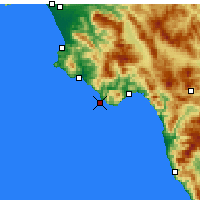 Nearby Forecast Locations - Cape Palinuro - Mapa