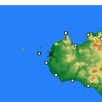 Nearby Forecast Locations - Trapani - Mapa