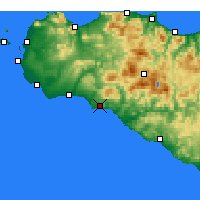 Nearby Forecast Locations - Sciacca - Mapa