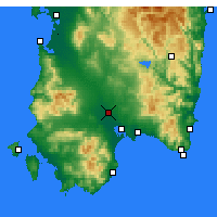 Nearby Forecast Locations - Decimomannu - Mapa