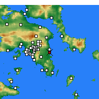Nearby Forecast Locations - Artemida - Mapa