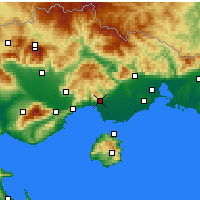 Nearby Forecast Locations - Kavala - Mapa