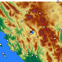Nearby Forecast Locations - Ioánnina - Mapa