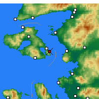 Nearby Forecast Locations - Lesbos - Mapa