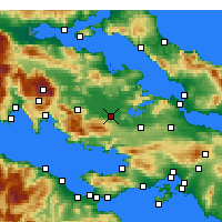 Nearby Forecast Locations - Aliartos - Mapa