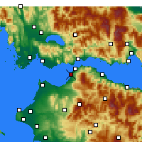 Nearby Forecast Locations - Patra - Mapa