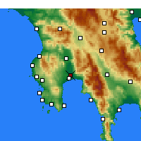 Nearby Forecast Locations - Kalamata - Mapa