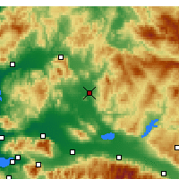 Nearby Forecast Locations - Akhisar - Mapa