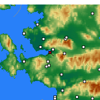 Nearby Forecast Locations - İzmir - Mapa