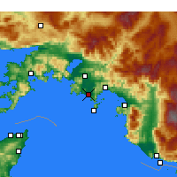 Nearby Forecast Locations - Dalaman - Mapa