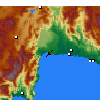 Nearby Forecast Locations - Antalya - Mapa