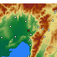 Nearby Forecast Locations - Osmaniye - Mapa