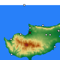 Nearby Forecast Locations - Morphou - Mapa