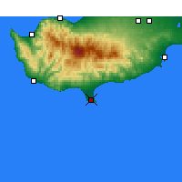 Nearby Forecast Locations - Lemesos - Mapa