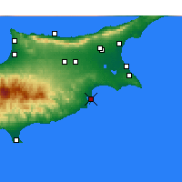 Nearby Forecast Locations - Larnaka - Mapa