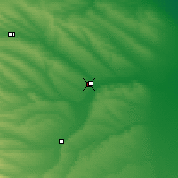 Nearby Forecast Locations - Budyonnovsk - Mapa