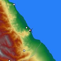 Nearby Forecast Locations - Derbent - Mapa