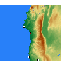 Nearby Forecast Locations - Jableh - Mapa