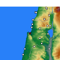 Nearby Forecast Locations - Haifa - Mapa